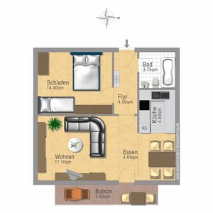 holiday apartment layout