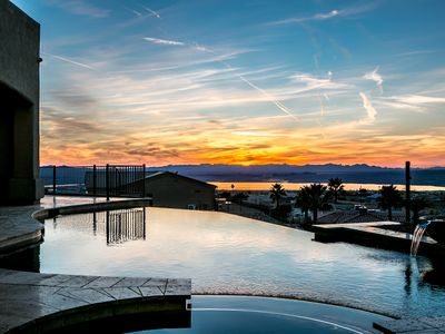 Photo for Jaw Dropping View! 2 Master Suites, Pool/Swim Up Bar/Spa/Boat Deep Garage