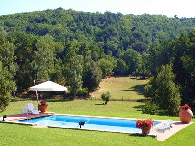 Private Heated Swimming pool in the large lawn