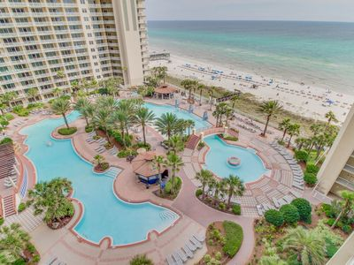 Photo for Gulf-side condo w/ private balcony & amazing views, shared pool/hot tub!