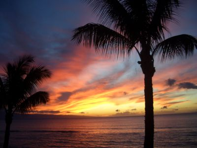 Enjoy the beautiful sunset from either Lanai nightly