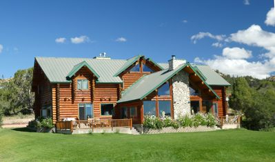 Photo for Alton Lodge / Spacious Log Home on beautiful, quiet 20 acres with large Kitchen