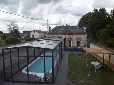 Photo for Large capacity cottage with private, covered and heated swimming pool
