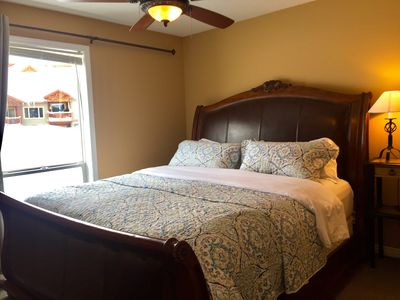 Luxurious sleep in your king sized bed!