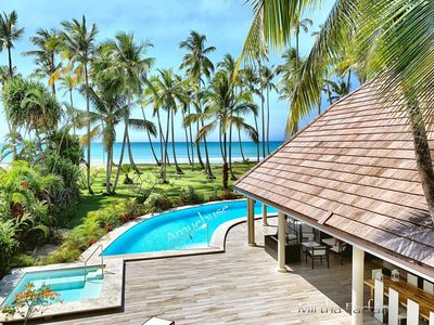 Photo for Luxury villa on the beach for 23 people maximum