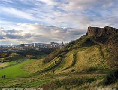 St Leonards Crag looking towards Leith