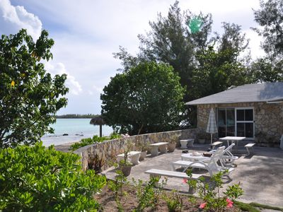 Photo for STONE BEACH COTTAGE TikiHut Kayaks Paddleboards WiFi Terrace Beachfront Gardens