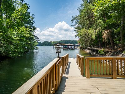 Photo for 2 Homes for the price of 1! Luxurious Lakefronts inside State Park! Public Beach