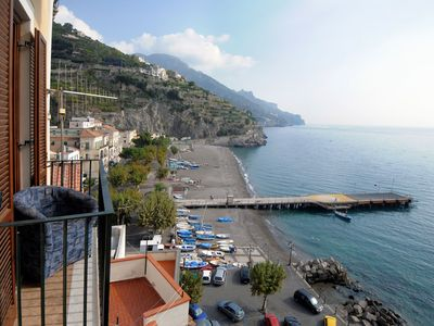 Photo for House with terrace and sea view located in the center of Minori and 4 km from Amalfi