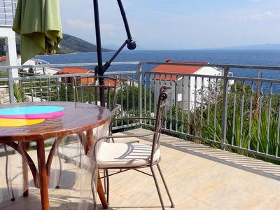 Photo for One bedroom apartment with terrace and sea view Bušinci, Čiovo (A-7560-b)