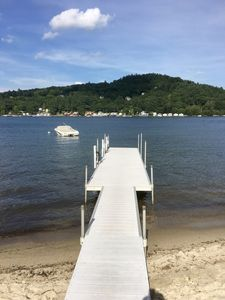 Private dock with left side available for your boat-rent one or bring one.