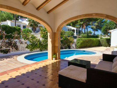 Photo for Stunning private villa for 8 guests with private pool, A/C, WIFI, TV, balcony and parking