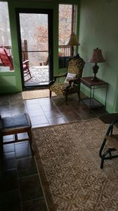 Glass Porch with Heated Floors