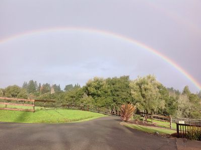 Get your lucky rainbow here, view from your private deck!