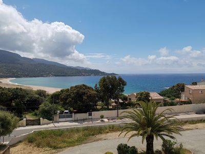 Photo for F2, air-conditioned, sea view, 100 m from the beach