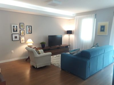 Photo for Apt 3 Bedrooms w / AC Centro / Barra Sul 2 Vacancies and Protection screen.