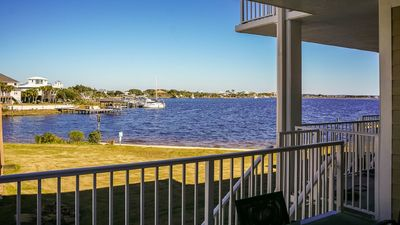Photo for WATER FRONT - 4 Balconies -  Beach and Gulf Views -  Private 2 car garage