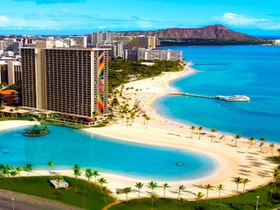 Photo for Incredible 2 bedroom Hilton Hawaiian Village Residence, Ocean Front!