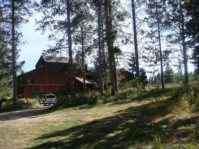 Photo for Great For Family Reunions - Spacious Lodge Bordering Forest