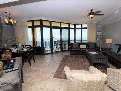 Photo for Phoenix West II 2206- Beach Front View, Large Terrace, Lazy River!