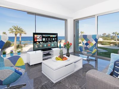 Photo for DION - 3Bed Seaview Apartment 200m from Golden Sands Green Bay Beach