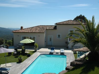 Photo for Promo July beautiful villa panoramic sea and mountain 15min from Cannes