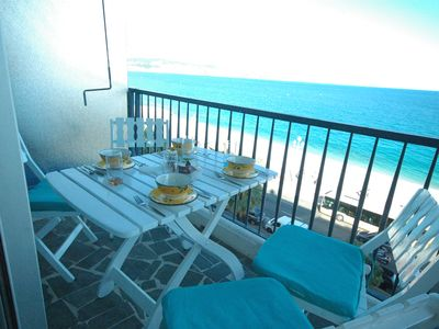 Photo for Sea Front 2 Bedrooms Unit Terrace, Facing The Beach, On Promenade!