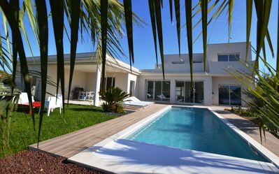 Photo for VILLA SUN 8-10 PERS HEATED SWIMMING POOL 400 M BEACHES **** - CAP D'AGDE