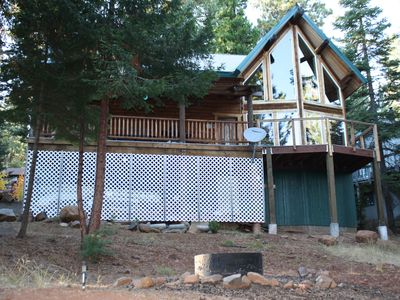 Photo for Log Cabin with Lake and Mountain Views, family friendly, 3 Bedroom, 2 Bath, WIFI