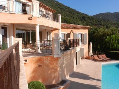 Photo for Luxury detached villa with heated private pool and beautiful view of the Mediterranean Sea