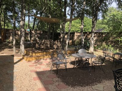 Photo for Central Downtown Entertainment  - Gorgeous Relaxing BACKYARD Park Setting Trees