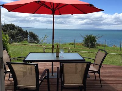 Photo for Gorgeous Cliff Top Kiwi Bach facing the sea