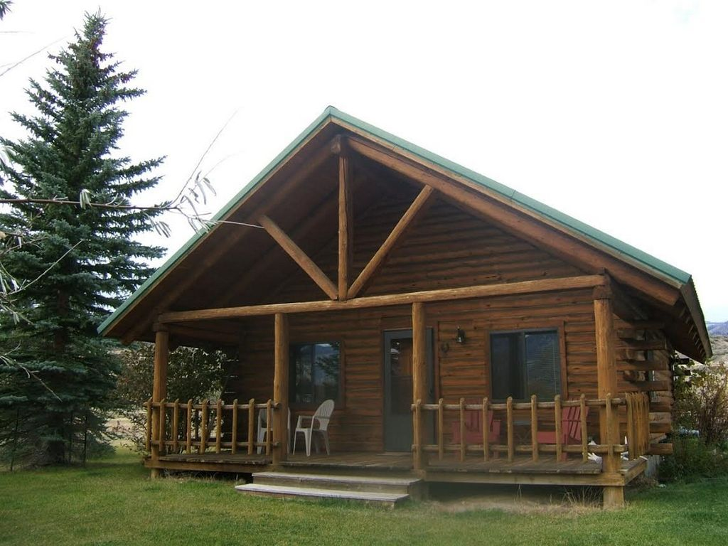 Yellowstone country cabins log cabins sur la rivi re for Cabine occidentali yellowstone