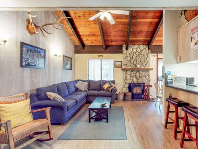 Photo for NEW LISTING! Rustic condo w/ shared pool and hot tub, grills, and game room!