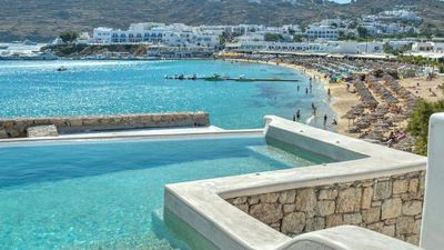 Photo for On The Beach Villa Mykonos 5br upto 12guests Private Pool