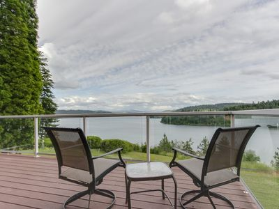 Photo for NEW LISTING! Spacious lakeside home with gorgeous views and secluded location