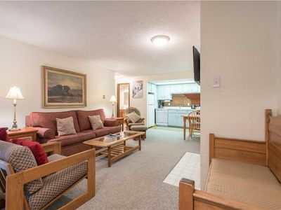Photo for Cozy Ski-in/Walk-out condo, outdoor hot tub, free wifi, & parking, great value