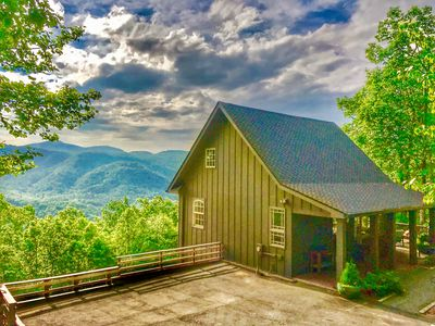 Photo for Secluded Cabin, 2 Hot Tubs, Close To Asheville & Lake Lure, WiFi, Big View!!!