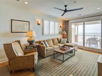 Photo for Third-floor condo w/ beach and ocean views, private front porch entrance, & deck