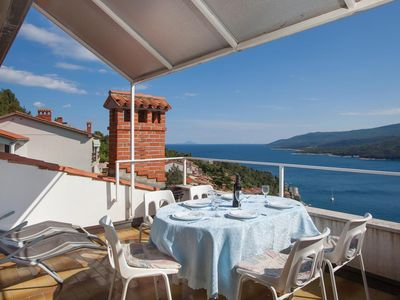Photo for Two bedroom apartment with terrace and sea view Rabac, Labin (A-12107-a)