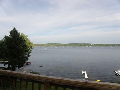 Saratoga Lake view with use of dock and kayaks.  Open floor plan and central air