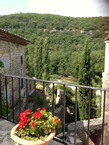 Photo for Provence: Ceze valley, splendid period house in medieval riverside village