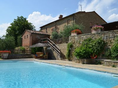 Photo for Tuscany stone villa with private pool and garden in panoramic position very close to Monte San Savin