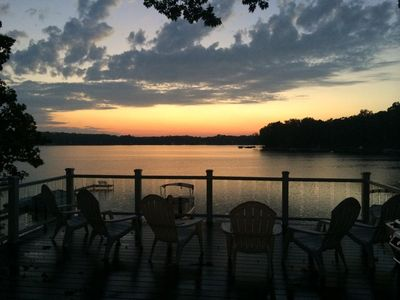 Photo for Luxury 5BR, 4.5BA Lakefront Home On Dewey Lake with patio, deck & firepit