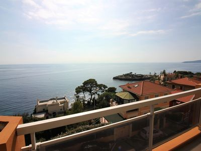 Photo for Panoramic sea view / Terrace and Parking / 2 min Monaco