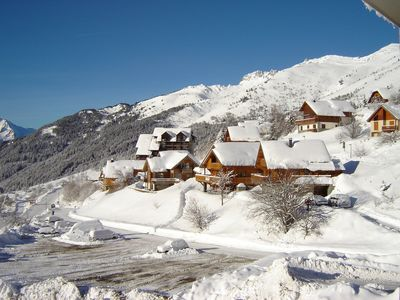 Photo for apartment in chalet, southern exp, near trails, beautiful views, sauna ext