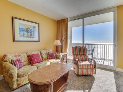 Photo for Beachfront condo w/ balcony, views, shared pools & hot tubs! Snowbirds welcome!