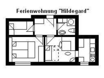 "Photo for ""U2 = Hildegard"" for 3-6 persons - House U, for 1-15 persons, 25km to FFM-Nord"