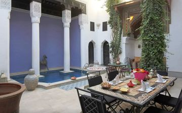 Riad Magie d'Orient with swimming pool and household staff near the heart of the Medina and Djema el Fna Koutoubia