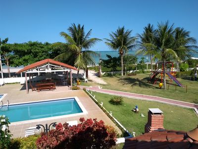 Photo for Beautiful Chalet in Maragogi, Cond Verde Mar, on the beach of Ponta de Mangue.